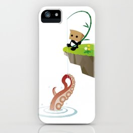 Mysterious Panda-Sea King fishing octopus iPhone Case