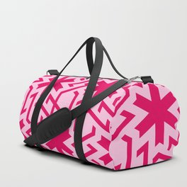 Abstract red-pink snow pattern Duffle Bag