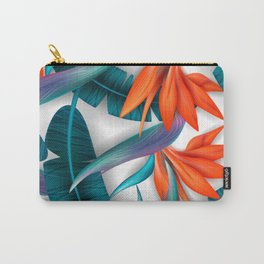 Lovely Sunflower / floral pattern, blossom cluster seamless pattern and palm leaves Carry-All Pouch