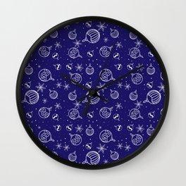 New Year Christmas winter holidays cute pattern Wall Clock