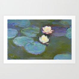 Nympheas by Claude Monet (1897–1898) - Fine Art Collection Art Print