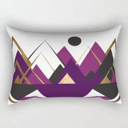 Art Deco Mountain Teepees In Purple Rectangular Pillow