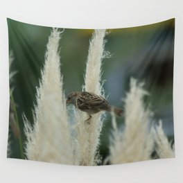 Sparrow Among Oats Wall Tapestry