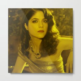 Selma Blair - Celebrity (Florescent Color Technique) Metal Print