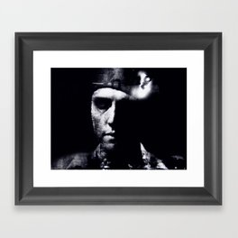 Hommage to Christopher Walken Framed Art Print