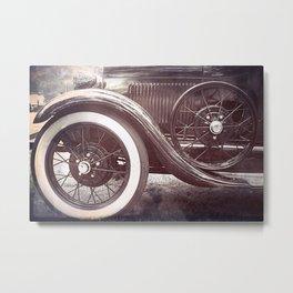 Old Timer Antique Car Metal Print