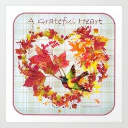 A Grateful Heart Art Print