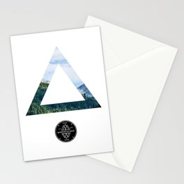 The Forest View Triangle Stationery Cards
