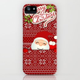 Noel Surprise Hiding Christmas Gift iPhone Case