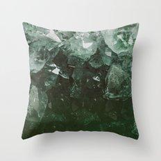 Emerald Gem Throw Pillow