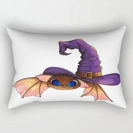 Halloween bat under a witch hat Rectangular Pillow