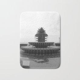 Pineapple Fountain Charleston River Park Bath Mat