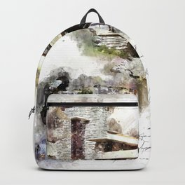 Falingwater Watercolor Backpack