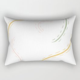 Strings - abstract - pattern - lines - illustration Rectangular Pillow