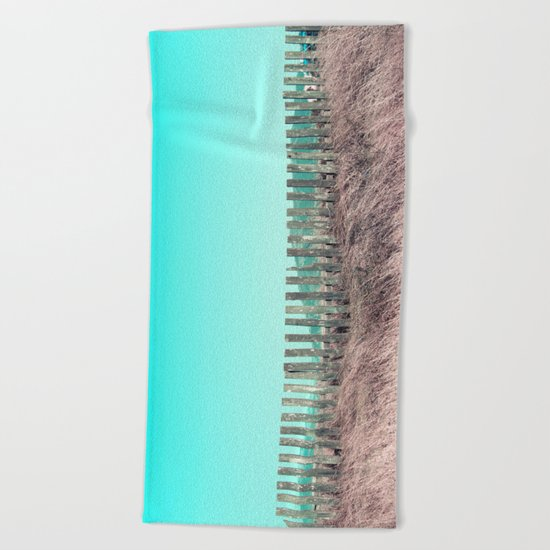 Candy fences Beach Towel