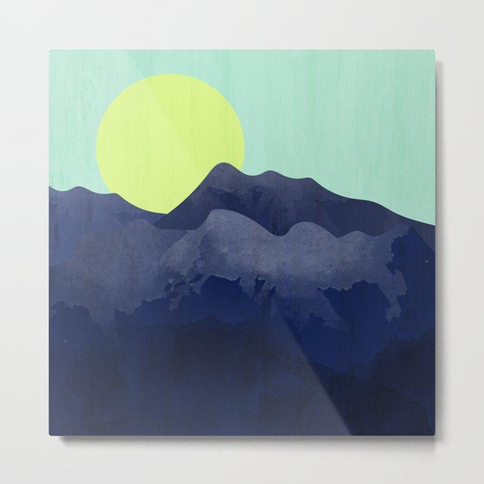 Sunset Mountain Metal Print