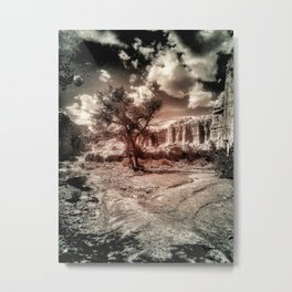 Quiet in the White Place Metal Print