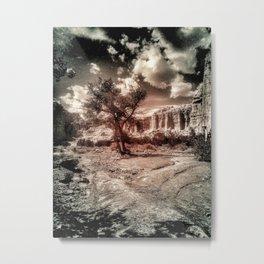 Silence in Plaza Blanco Metal Print