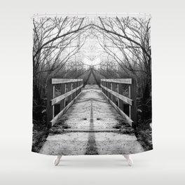 Mirrored Bridge Shower Curtain