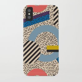 Memphis Inspired Pattern 3 iPhone Case