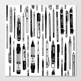 Pent Up Creativity (BW) Canvas Print