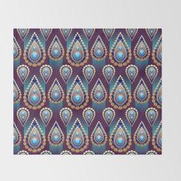 Turkish Blue Throw Blanket