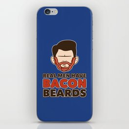 Bacon Beard (men's version) iPhone Skin