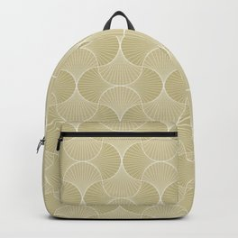 Scandinavian Floral - Art Deco Geometric Shapes Backpack