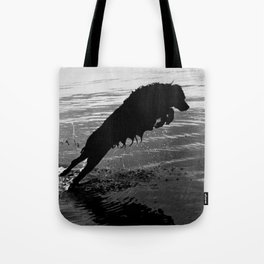 Dog Jump Tote Bag