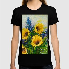 Sunflowers Oil Painting T-shirt