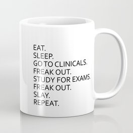 Clinical, Nursing Student, Med Student Serving Tray Coffee Mug