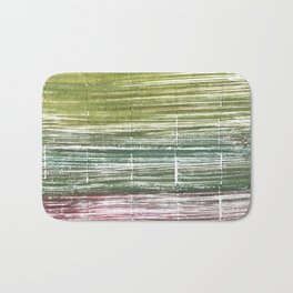 Moss green abstract watercolor Bath Mat