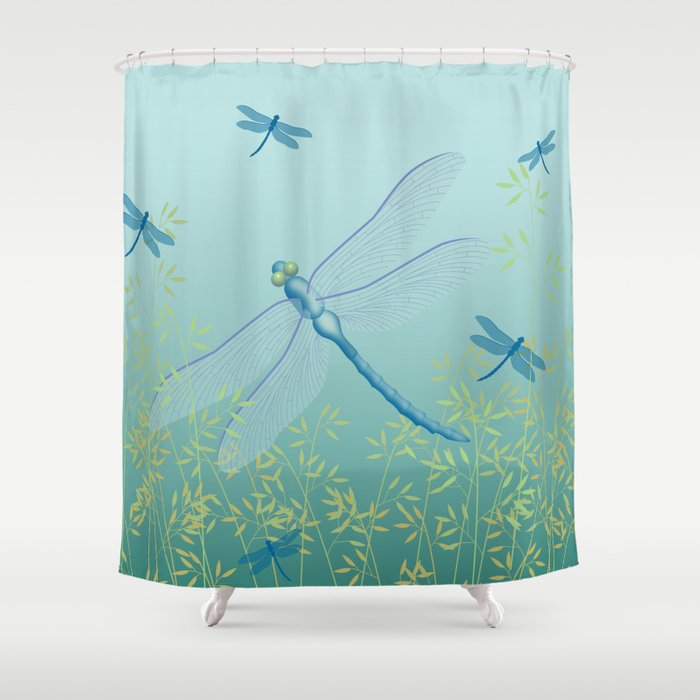 Dragonfly Shower Curtain By Ryanmcgurl