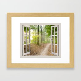 Window Tapestries Style Framed Art Print
