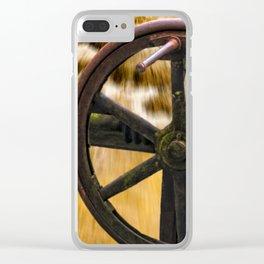 old locks wheel Clear iPhone Case