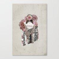 lana del rey Canvas Prints featuring Flower Del Rey by Alyssa Leary