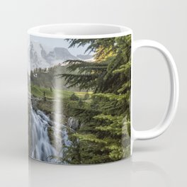 Mount Rainier and Myrtle Falls, Late Afternoon Coffee Mug