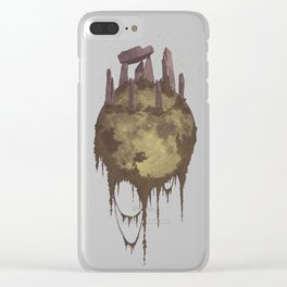 Moon Ruins Clear iPhone Case
