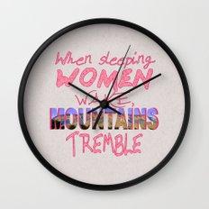 When Sleeping Women Wake Wall Clock