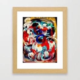 Abstract Action American Painting Framed Art Print