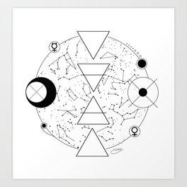 Celestial Alchemical Earth Art Print