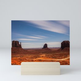 Bright Night at Monument Valley Mini Art Print
