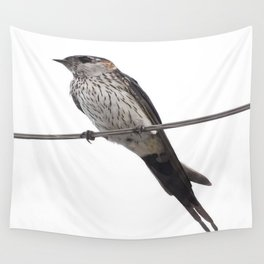 Red-Rumped Swallow Vector Background Removed Wall Tapestry
