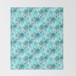 Beautiful Succulent Watercolour Pattern Throw Blanket