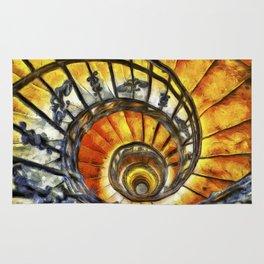 Spiral Staircase Van Gogh Rug