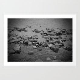 the shallows // river rocks Art Print