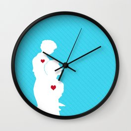 Father and son art Wall Clock