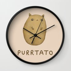 Purrtato Wall Clock