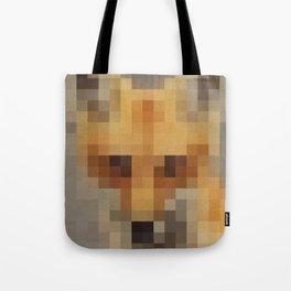 Fox Pixels Tote Bag