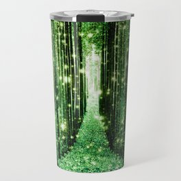 Magical Forest Green Elegance Travel Mug